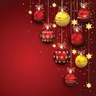 Christmas,Gold Colored,Red,Star Shape,Christmas Decoration,Bow,Christmas Ornament,Backgrounds,Glowing,Image,Ribbon,Vector,Ilustration,Winter,Collection,Hanging,Set,Glitter,Decoration,Shiny,Holiday