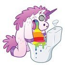 Unicorn,Rainbow,Horse,Ilustration,Horned,Humor,Fun,Isolated,Magic,Toilet,loony,Pony,Pink Color,Mythology,Fantasy,Characters,Vomit,Eccentric,ambiguous,Illness,Creativity,Imagination,Vector,Cartoon,Bizarre,Animal,Fairy Tale,intoxication