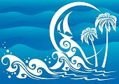 Wave,Yacht,Beach,Tall Ship,Sea,Tourist Resort,Adventure,Tropical Climate,Nature Backgrounds,Isolated-Background Objects,Vector Backgrounds,Isolated Objects,Nature,Direction,Illustrations And Vector Art,Resting