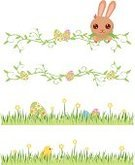 Easter,Easter Bunny,Rabbit - Animal,Baby Chicken,Lagomorphs,Grass Family,Flower,Animal Egg,Easter,Holidays And Celebrations,Animals And Pets,Illustrations And Vector Art
