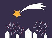 Landscape,Abstract,Winter,Village,Star Shape,Hut,Sky,Constellation,Outdoors,Design,Christmas Ornament,Tree,Fairy Tale,Meteorite,Greeting Card,Built Structure,House,Town,Ilustration,Celebration,Spotted,Christmas,Astrology,Holiday,Space,Scandinavian Culture,Comet,Shooting,Berry Fruit,Star - Space,Tail Fin,Season,Backgrounds,Decoration,Vector,Nature,Night,Computer Graphic,Greeting,Snow,Scandinavia,Light - Natural Phenomenon,North,Nordic Countries,Astronomy,December,Scandinavian