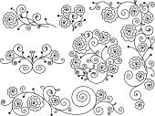 Rose - Flower,Flower,Floral Pattern,Vine,Single Flower,Frame,Pattern,Vector,Valentine's Day - Holiday,Bouquet,Swirl,Art Nouveau,Ornate,Line Art,Retro Revival,Certificate,English Rose,Decoration,Victorian Style,Design Element,Design,Art Deco,Old-fashioned,Simplicity,Scroll Shape,Flower Arrangement,Computer Graphic,Spiral,Black And White,Cut Flowers,Fleuron,Black Border,Isolated,Bunch,Curve,Placard,Arrangement,Cartouche,White Background,Remote,Digitally Generated Image,Vector Florals,Isolated-Background Objects,Illustrations And Vector Art,Vector Ornaments,Isolated Objects