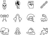 Warrior,Men,Sports Helmet,Sparta,Work Helmet,Atlas,Classical Greek,Muscular Build,Human Muscle,Human Arm,Strength,Computer Icon,Animal Muscle,Symbol,Barbell,Bicep,Vector,Icon Set,Gladiator,Set,Weight Training,Connection,Mass - Unit Of Measurement,Link,Rod,Attached,Collection,Push Button,Fist,Weights,Chain,ikons,Applying,Human Hand,Greek Culture,Picking Up,Roman,Greece,Sign,Careless,Internet,Bell,Weightlifting,Trojan Horse,Design Element,Modern,Infographic,Flat,Dumbbell,Part Of,UI,Weight,The Media,Application Form,Elevator,Application Software,ikon,Sparse