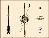 Arrow Symbol,Ornate,North,Direction,Map,Cartography,Symbol,Acute Angle,Star Shape,Ilustration,Shape,Vector