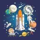 Sun,People,Order,Simplicity,Exploration,Symbol,Sign,Science,Land Vehicle,Composition,Astronomy Telescope,Space Shuttle,Shape,Space,Sun,Moon,Planet - Space,Comet,Meteor,Astronaut,Mars - Planet,Planet Jupiter,Saturn,Space Suit,Illustration,Vector,Solar System,Astronomy,Asteroid,Travel,Meteorite,Spaceship,Planetary Moon,Planet Earth,Design Element,268399,62990,Space and Astronomy