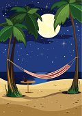 Hammock,Beach,Night,Tropical Climate,Moon,Palm Tree,Summer,романтика,отпуск,Sea,Tourist Resort,Resting,night sky,Sand,Coastline,Relaxation,Cocktail,Vacations,Recreational Pursuit,Travel Destinations,Health Spa,Leisure Activity,Sky,Staring,Nature,Beaches,Vector Backgrounds,Summer,Travel Locations,Illustrations And Vector Art,Water's Edge