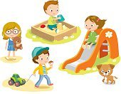 People,Toy,Ice Cream,Animal,Playful,Car,Schoolyard,Dog,Small,Playground,Childhood,Playing,Baby,Child,Cute,Illustration,Cartoon,Boys,Girls,Baby Girls,Young Animal,Vector,Pets,Characters,Sandbox,Frozen Food,124885