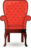Chair,Seat,Luxury,Red,Ornate,Elegance,Sitting,Isolated Objects