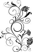 Black And White,Flower,Floral Pattern,Swirl,Decoration,Vector,Black Color,Leaf,Backgrounds,Deco,Outline,Computer Graphic,Design Element,Love,Elegance,Curve,Symmetry,Beautiful,Nature,Curled Up,Plant,Paint,Vector Florals,Vector Ornaments,Illustrations And Vector Art,Ilustration,Shape,Creativity,Botany,Isolated