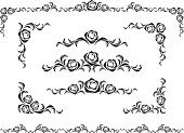 Rose - Flower,Corner,Frame,Page,Vector,Decoration,Black Color,Angle,Pattern,Floral Pattern,Art,Design,Computer Graphic,Decor,Design Element,Backgrounds,Set,Curled Up,Elegance,Ilustration,Art Product,Paintings,Abstract,Illustrations And Vector Art,Nature,stylization,Vector Ornaments,Flowers,Vector Florals,Composition