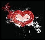 Heart Shape,Dirty,Grunge,Banner,Abstract,Valentine's Day - Holiday,Vector,Scratched,Vignette,Blob,Spotted,Frame,Painted Image,Ornate,Label,Computer Graphic,Backgrounds,Scratching,Ilustration,Red,Vector Florals,Floral Pattern,Vector Ornaments,Holidays And Celebrations,Valentine's Day,Illustrations And Vector Art,Decoration,Flower,Spray,Image