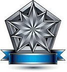 Classic,Insignia,Shape,Vector,Internet,Simplicity,Geometric Shape,Business,Star Shape,Pentagon,Silver Colored,Curve,Glamour,Blue,Nobility,Symbol,Majestic,Decor,Awe,Ideas,Coat Of Arms,Leadership,Posing,Three-dimensional Shape,Wealth,Design,Isolated,Single Object,Medal,Ribbon,Backgrounds,Ornate,Copy Space,Elegance,Metal,Perfection,Design Element