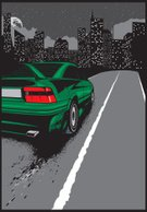 Car,Road,Sports Race,Vauxhall,Night,calibra,City,Sign,Motorsport,Vector,Tire,Flame,Art,At The Edge Of,Single Line,Sport,Dark,In A Row,Wheel,Fire - Natural Phenomenon,Dragging,Dividing Line,Transportation,Moon,Sky,wehicle,Illustrations And Vector Art