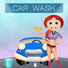 Ilustration,Street,Freshness,Cleaning,Bubble,Car Wash,Service,Smiley Face,Wheel,Red,Washing,Land Vehicle,Soap Dispenser,Transportation,Car