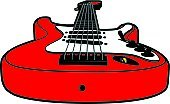 Guitar,Rock and Roll,Vector,Musical Instrument,String Instrument,Music,Arts And Entertainment,Illustrations And Vector Art,Musical Instrument String