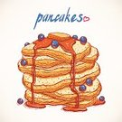 Pancake,Food,Sweet Food,White,Ilustration,Blueberry,Gourmet,Painted Image,Vector,Plate,Orange Color,Berry Fruit,Yellow,Brown,Blue,Breakfast,Pastry,Backgrounds,Snack,Human Hand,Computer Graphic,Morning,Dessert,Multi Colored,Refreshment,Isolated,Fried,Photograph,Eat,Meal,Pink Color,Drawing - Activity,Maple Tree,Drop,Syrup,Red,Stack,Sketch