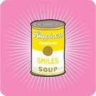 Pop Art,Soup,Can,Smiley Face,Smiling,Andy Warhol,Tin,Human Face,Mental Illness,Depression - Sadness,Cheerful,Creativity,Happiness,Solution,Ideas,Inspiration,Emotion,Vector,Ilustration,Symbol,Alternative Therapy