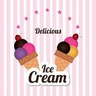 Refreshment,Design,Cream,Party - Social Event,Freshness,Ilustration,Vector,Gourmet,Candy,Sweet Food,Crockery,Restaurant,Ice Cream