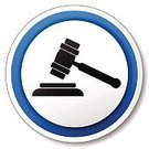 Gavel,Symbol,Decisions,Crime,Legal System,Innocence,Sign,Auction,Law,Judgement,Lawyer,Circle,Single Object,Posing,Black Color,Isolated,Blue,Vector,Design