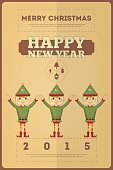 Christmas Card,Cultures,Holiday,Elf,Vector,Christmas,Decoration,Ilustration,December,Season,Winter,Greeting,Cartoon
