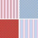 Striped,Seamless,Pattern,Spotted,Set,Blue,Backgrounds,Polka Dot,Vector,Abstract,Wallpaper Pattern,Pink Color,Textured