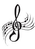 Treble Clef,Music,Play,Musical Instrument,Toned Image,Musical Note,Singing