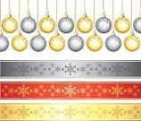 Christmas Decoration,Christmas Ornament,Tinsel,Decorating,Decoration,Vector,Collection,Silver Colored,Snowflake,Symbol,Christmas,Set,Gold Colored,Backgrounds,Red,Isolated,Eps10,Design Element