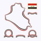 Ribbon,Flag,In A Row,Postage Stamp,Colors,Land,nation,Computer Graphic,National Landmark,At The Edge Of,Black Color,Symbol,Flat,Isolated,Retro Revival,Iraki,White,Red,Design Element,Ilustration,Country - Geographic Area,Iraqi Culture,Iraq,Shape,Backgrounds,Design,Posing,Cartography,Outline,Old-fashioned,Multi Colored,Vector,Frame,Banner,International Border,Flat Design