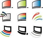 Computer,Television Set,Sign,Computer Mouse,Computer Monitor,PC,rgb,Symbol,Vector,Computer Icon,Simplicity,Clip Art,Design Element,Green Color,Icon Set,Ilustration,Set,Digitally Generated Image,Computer Graphic,Red,No People,Color Image,Part Of,Blue,Colors