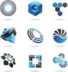 Cube Shape,Sign,Computer Icon,Symbol,Honeycomb,Hexagon,Sphere,Abstract,Two-dimensional Shape,Black Color,Blue,Collection,Vector,Curve,Shape,Ideas,Set,Striped,Geometric Shape,Style,Square Shape,Circle,Modern,Computer Graphic,Drawing - Art Product,Ilustration,Design Element,Design