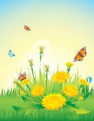 Dandelion,Easter,Formal Garden,Summer,Flower Bed,Butterfly - Insect,Meadow,Wildflower,Floral Pattern,Field,Vector,Grass,Art,Morning,Group of Objects,Flower,Front or Back Yard,Backgrounds,Ilustration,Design,Springtime,Colors,Autumn,Nature,Landscape,Daisy,Herb,Green Color,Decoration,Plant,Sky,Abstract,Rustic,Land,Season,Design Element,Nature,Nature Backgrounds,Environment,Scenics,Lawn,Frame,Vector Backgrounds,Pattern,Holidays And Celebrations,Ideas,Landscaped,Color Image,Image,Day,Easter,Illustrations And Vector Art,Concepts