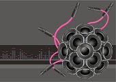 Sound Mixer,Speaker,Megaphone,Sound,Music,reverb,Backgrounds,Vector,Nightclub,Pink Color,Urban Scene,Gray,Magenta,Vector Backgrounds,Technology,Technology Backgrounds,Loud Music,Ilustration,Silver Colored,Illustrations And Vector Art