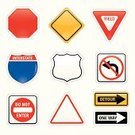 Road Sign,Sign,Interstate,Multiple Lane Highway,Safety,Warning Sign,Icon Set,Computer Icon,Yield Sign,Vector,Roadblock,One Way,Law,Octagon,Clip Art,Road Warning Sign,Ilustration,Isolated-Background Objects,Illustrations And Vector Art,Isolated Objects