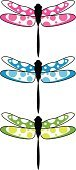 Dragonfly,Vector,Insect,Pink Color,Computer Graphic,Animal,Symbol,Digitally Generated Image,Funky,Black Color,Ilustration,Computer Icon,Nature,Flying,Green Color,Cute,Cool,Clip Art,Modern,Three Objects,Vibrant Color,Three Animals,Blue,Wing,Spotted,Wildlife,Simplicity,Illustrations And Vector Art,Animals And Pets,Nature,Insects