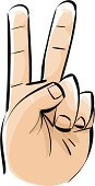 Two Fingers,Symbols Of Peace,Human Finger,Peace Sign,Human Hand,Cartoon,Hand Sign,Vector,Winning,Symbol,Vector Icons,Vector Cartoons,Success,Concepts And Ideas,Ilustration,Success,Illustrations And Vector Art