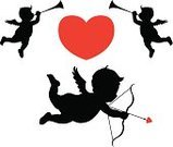 Cupid,Angel,Silhouette,Baby,Trumpet,Vector,Valentine's Day - Holiday,Love,Music,Arrow,Heart Shape,Bow,Black Color,Ilustration,Musical Instrument,Fantasy,Musician,Isolated,Red,Holidays And Celebrations,Illustrations And Vector Art,Feelings And Emotions,Valentine's Day,Celebration,Happiness,Concepts And Ideas