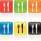 Silverware,Fork,Table Knife,Symbol,Computer Icon,Sign,Vector,Kitchen Utensil,Red,Clip Art,Color Image,Orange Color,Part Of,Household Objects/Equipment,Green Color,accent,Illustrations And Vector Art,Objects/Equipment,Clipping Path,White,Ilustration,Yellow,Blue,Black Color,Design