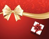 Gift,Holiday,Ribbon,Sign,Christmas Decoration,Bow,Gift Box,Surprise,No People,Directly Above,Christmas,Floral Pattern,Leaf,Abstract,Concepts,Shiny,Swirl,Backgrounds,Silver Colored,Celebration,Red,Gold Colored,Paper
