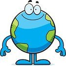 Planet - Space,Smiling,Solar System,Space,Vector,Standing,Ilustration,Happiness,Celestial Body,Cartoon,Clip Art,Computer Graphic,Cheerful,Earth