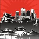 Japanese Culture,Japan,Asian Ethnicity,China - East Asia,Built Structure,Pagoda,Building Exterior,Chinatown,Vector,Architecture,Skyscraper,Ilustration,East Asian Culture,Cityscape,Architecture Backgrounds,Architecture Abstract,Architecture And Buildings,Vector Backgrounds,Chinese Culture,Downtown District,asian architecture,Illustrations And Vector Art