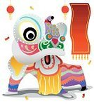 Chinese New Year,Cheerful,Lion - Feline,Chinese Culture,Goodness,Happiness,Fun,Religion,Wealth,Human Mouth,Holiday