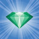 Diamond,Emerald,Gemstone,Green Color,Diamond Shaped,Crystal,Stone,Jewelry,Vector,Anniversary,Computer Icon,Star - Space,Rock - Object,Sunbeam,Clip Art,Ilustration,Glass - Material,Shiny,Fashion,Gold,Luxury,Engagement Ring,Reflection,Gift,Projection,Romance,Engagement,Beauty And Health,Intricacy,Illustrations And Vector Art,Fashion,Vector Icons,Beautiful