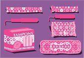 Tampon,Menstruation,Flower,Femininity,Merchandise,Female,Vector,Women,Healthcare And Medicine,Teenager,Group of Objects,Pink Color,Healthy Lifestyle,Wrapping Paper,Individuality,Month,Disposable,Dependency,Secrecy,Cycle,Equipment,Freshness,necessities,Human Fertility,Bathroom,Flowing,Purple,applicator,Beauty And Health,Monthly,Beauty,Sparse,Clean,Medicine And Science,Plastic,Wellbeing,Adolescence,Simplicity,Teenagers Only,Cardboard,Beautiful,Body Care,Shadow