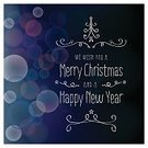 New Year's Eve,Christmas,Text,Defocused,Blue,Shiny,Star Shape,Decoration,Circle,Tree,Abstract,Christmas Lights,Greeting Card,Doodle,Vector,Ilustration,Glowing