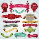 Ribbon,Award Ribbon,Retro Revival,Old-fashioned,Vector,Banner,Sign,Red,Computer Icon,Old,Design,Holiday,Label,template,Insignia,Symbol,Ilustration,Badge,Backgrounds,Christmas