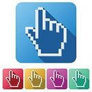 Variation,Application Software,Shape,Single Object,Set,Interface Icons,Isolated,Symbol,Computer Mouse,Human Hand,Human Finger,Cursor