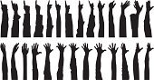 Human Hand,Silhouette,Hand Raised,Human Arm,Arms Raised,People,Vector,Assistance,Volunteer,Back Lit,Human Finger,Outline,Choice,Shadow,Black Color,Ilustration,Choosing,Isolated,Large Group Of People,Focus on Shadow,Anticipation,Monochrome,Tracing,Isolated On White,Raise Hand