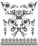 Clip Art,Floral Pattern,Silhouette,Scroll Shape,Decoration,Plant,Black And White,Elegance,Curve,Ornate,Vector,Design Element,Vector Ornaments,Vector Florals,Arts Backgrounds,Arts And Entertainment,Illustrations And Vector Art