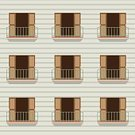 Ilustration,Vector,Computer Graphic,Outdoors,double doors,No People,Wood - Material,Apartment,Architecture,Facade,Residential District,Balcony