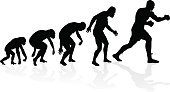 Ape,Monkey,Back Lit,Silhouette,Men,Progress,Success,Human Arm,Ilustration,Exercising,Fighting,Evolution,History,Vector,uppercut,Boxing - Heavyweight,Boxing,Injecting,Punching,People,Kickboxing,Charles Robert Darwin,combative,Walking,Development,Standing,Bad Posture,Track And Field Athlete,Combat Sport,Sports Glove,Origins,Suspicion,Sport,Muscular Build,Primate,hominid,Growth,mankind,Strength